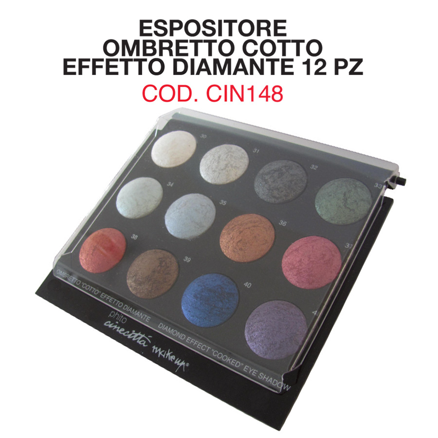 Expò 12 compact cooked eye shadows diamond effect