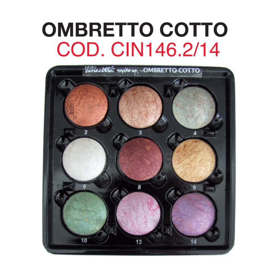 Pal. 9 compact cooked eye shadows