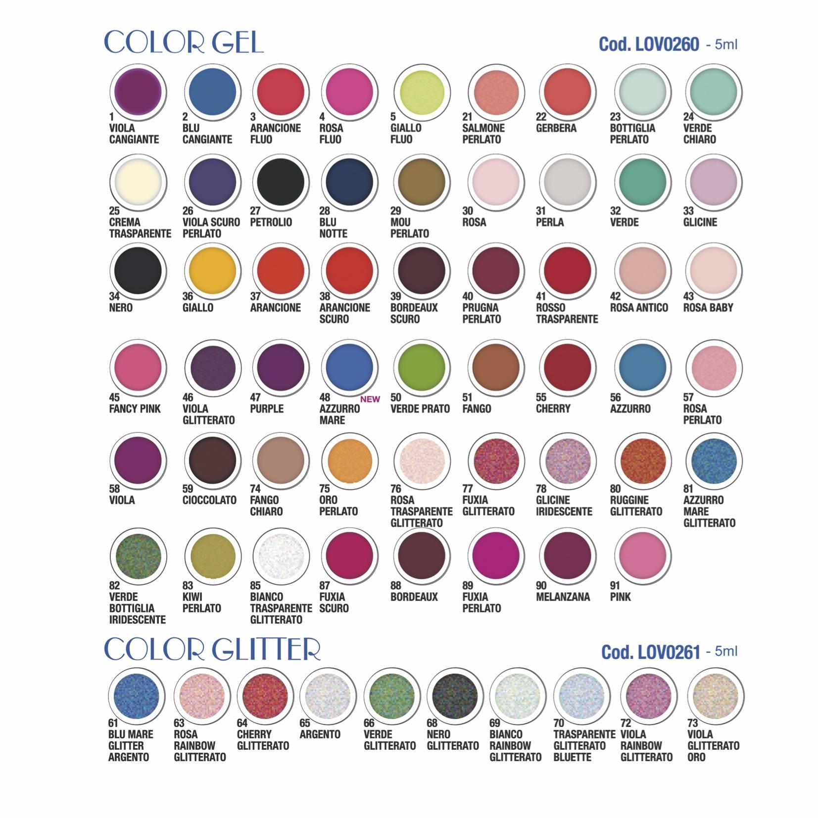 Gel Extraline Colors