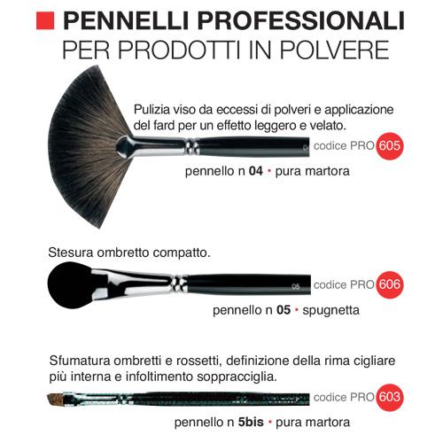 Pennelli professionali per prodotti in polvere 1