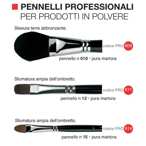 Pennelli professionali per prodotti in polvere 2