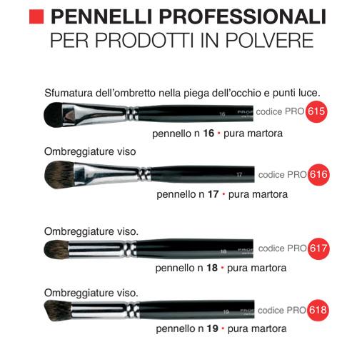 Pennelli professionali per prodotti in polvere 3