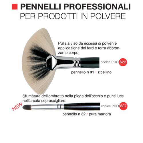 Pennelli professionali per prodotti in polvere 5