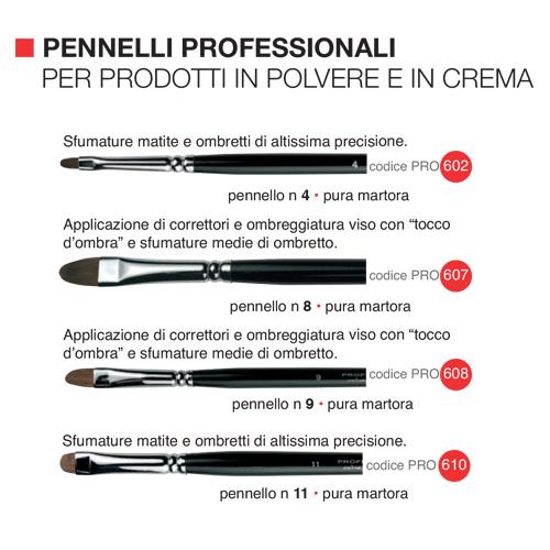 Pennelli professionali per prodotti in polvere e in crema  1