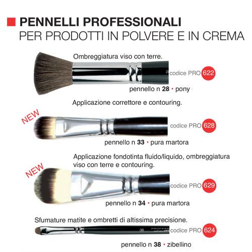 Pennelli professionali per prodotti in polvere e in crema  2