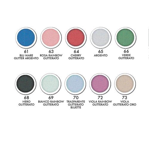 Glitter gel 10 colori  - Glitter gel 10 colors